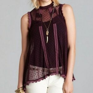 Free People Fiona Victorian lace sheer top